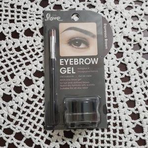 2nd love eyebrow gel espresso brown color